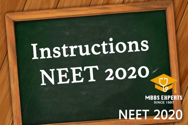 NEET 2020 Instructions